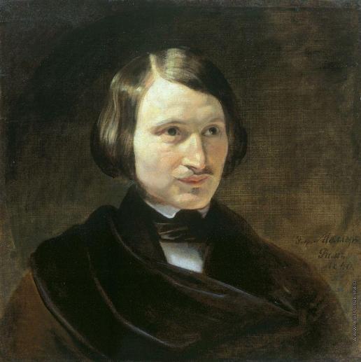 """Ф.А. Моллер """"Портрет Н.В. Гоголя"""", 1840"""