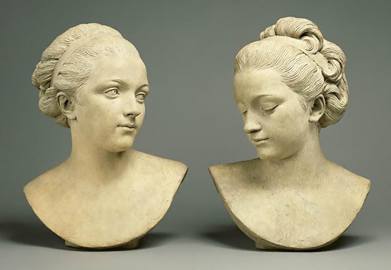 Огюстен Пажу Две женские головы
