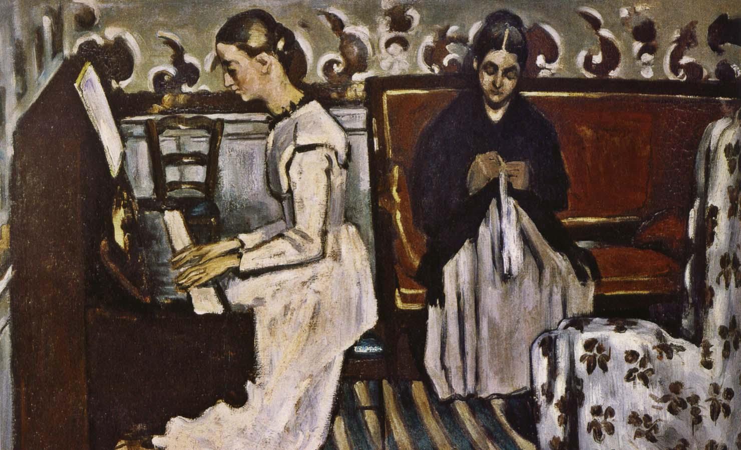 Поль Сезанн Девушка у пианино (Увертюра к «Тангейзеру»). 1868