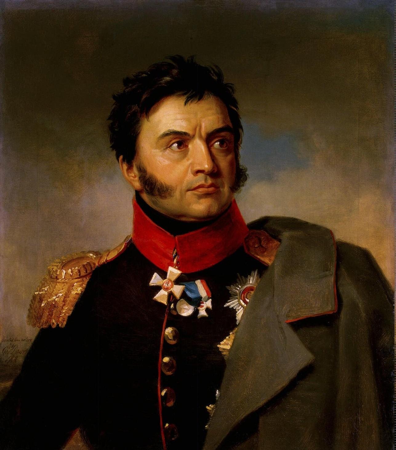 Джордж Доу. Портрет Николая Николаевича Раевского, ок. 1825 г.