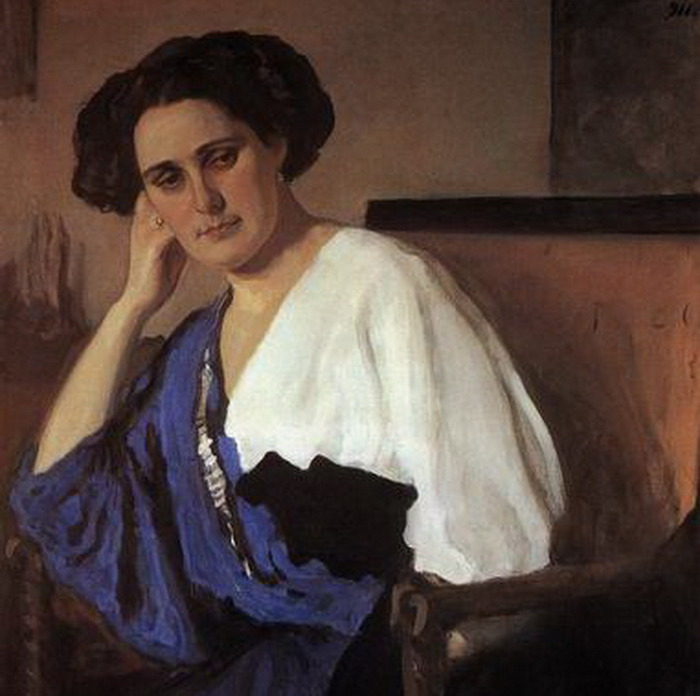 В.А. Серов Портрет Е.А. Балиной фрагмент 1911