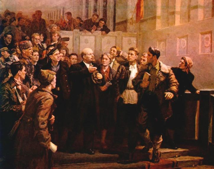Шиповский Л.Н. В.И.Ленин среди делегатов III съезда комсомола
