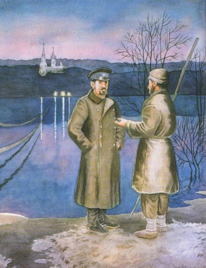 Борис Заболоцкий Иллюстрация к рассказу А.П. Чехова «Святою ночью»