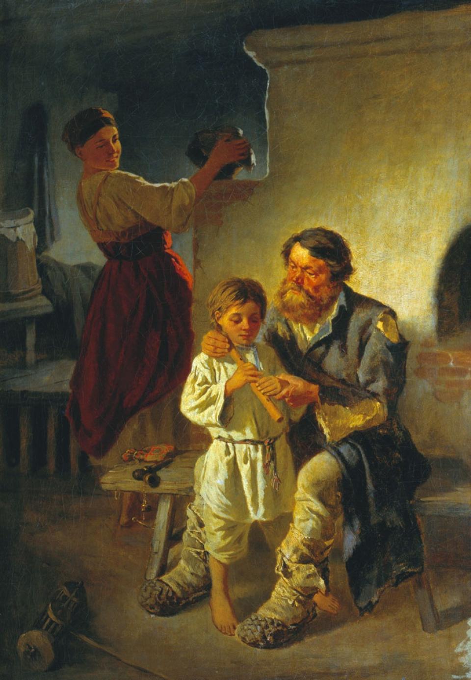 Константин Трутовский Урок музыки. Сцена в хате