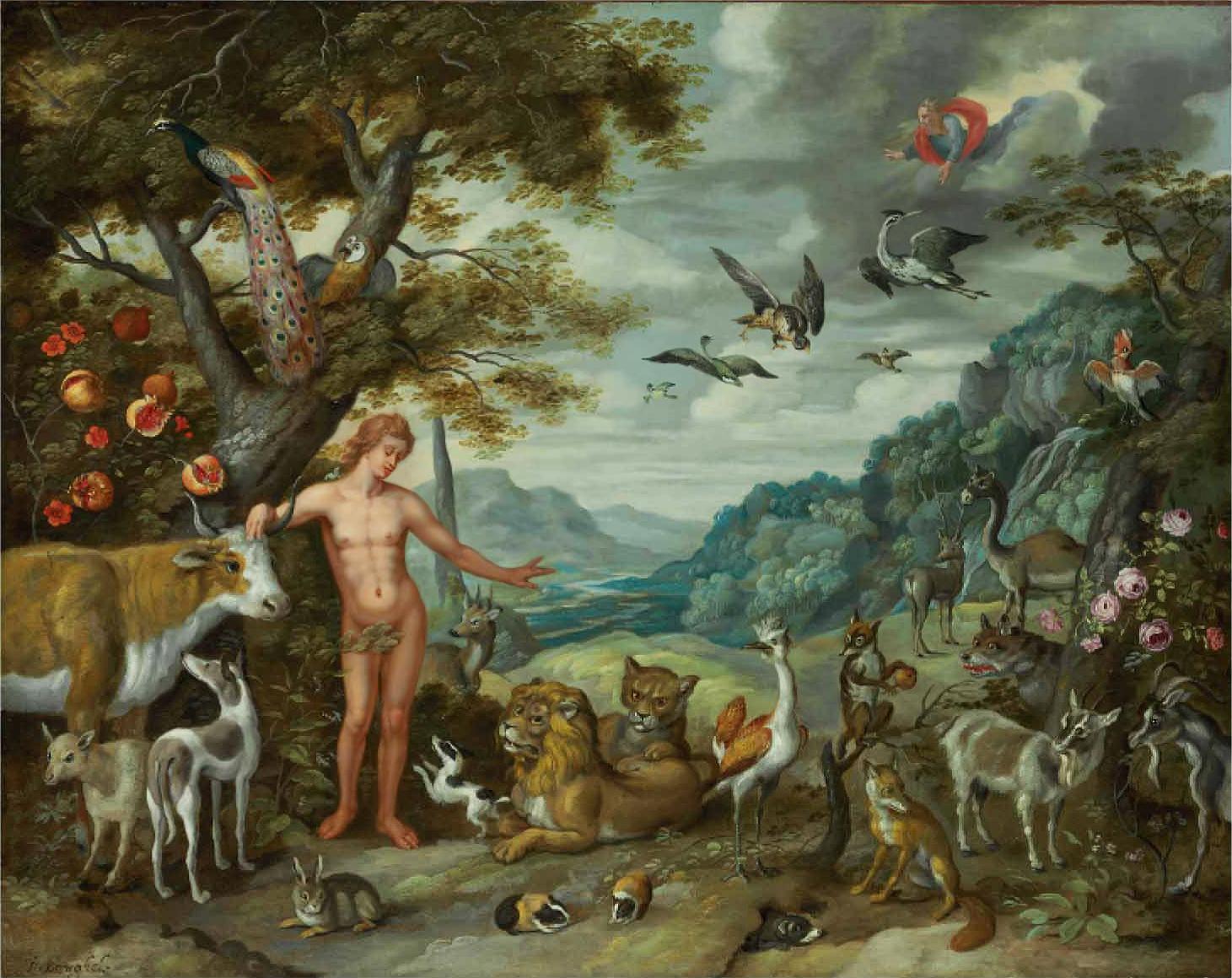 Ян Брейгель Младший Адам даёт имена животным