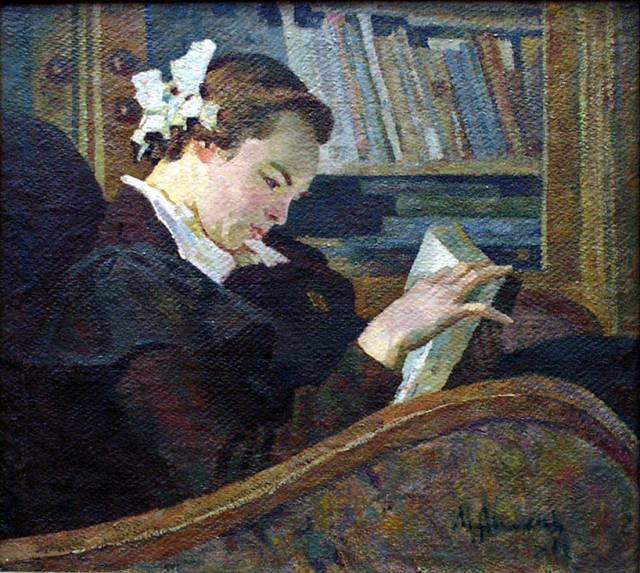 Михаил Аникеев За чтением