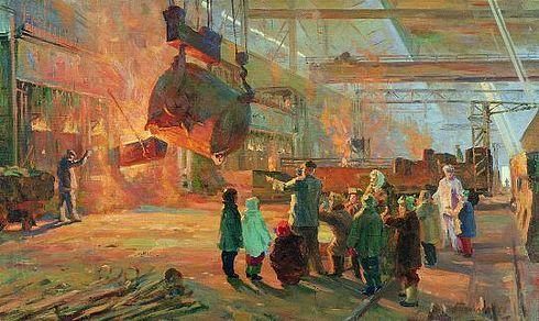 Николай Базылев Экскурсия на завод