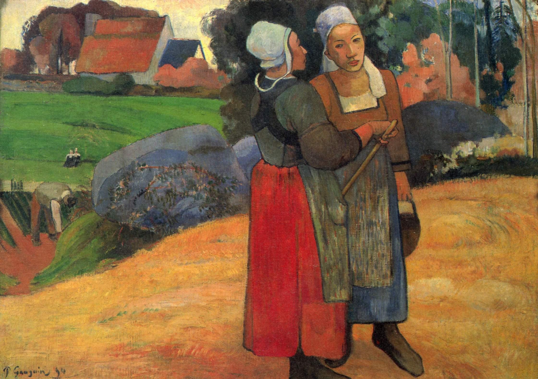 Поль Гоген Бретонские крестьянки