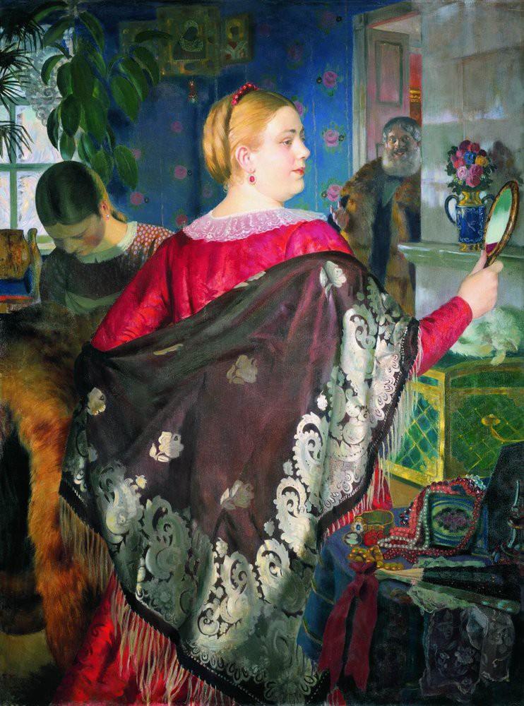 Борис Кустодиев Купчиха с зеркалом