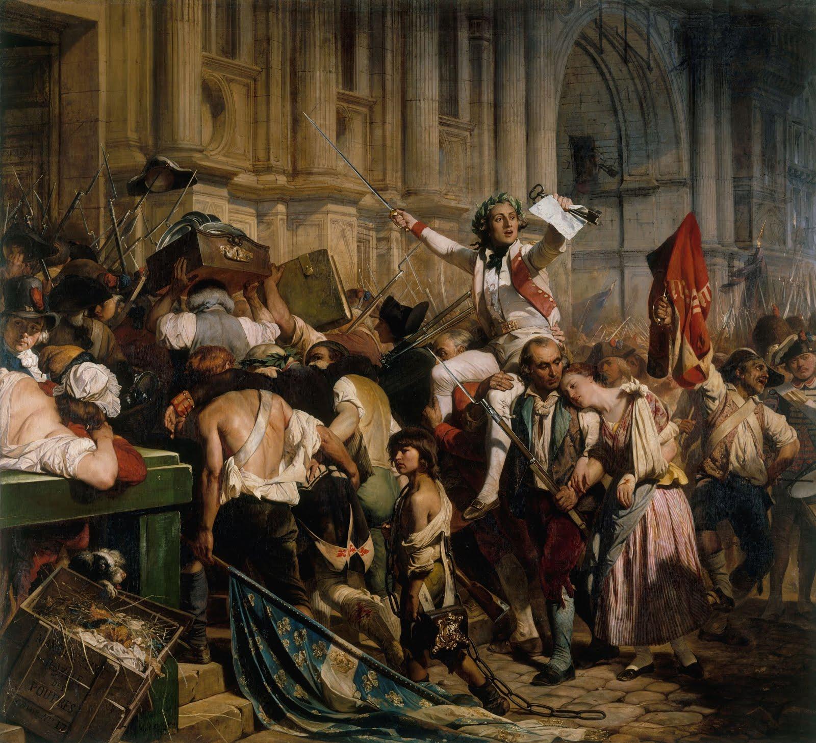 Поль Деларош. Победители Бастили перед отелем Де Виль 14 июля 1789, между 1830 и 1838 гг