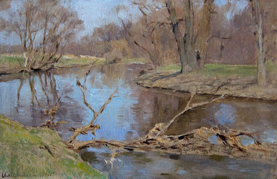Левитан И.И.Деревья над рекой. 1896
