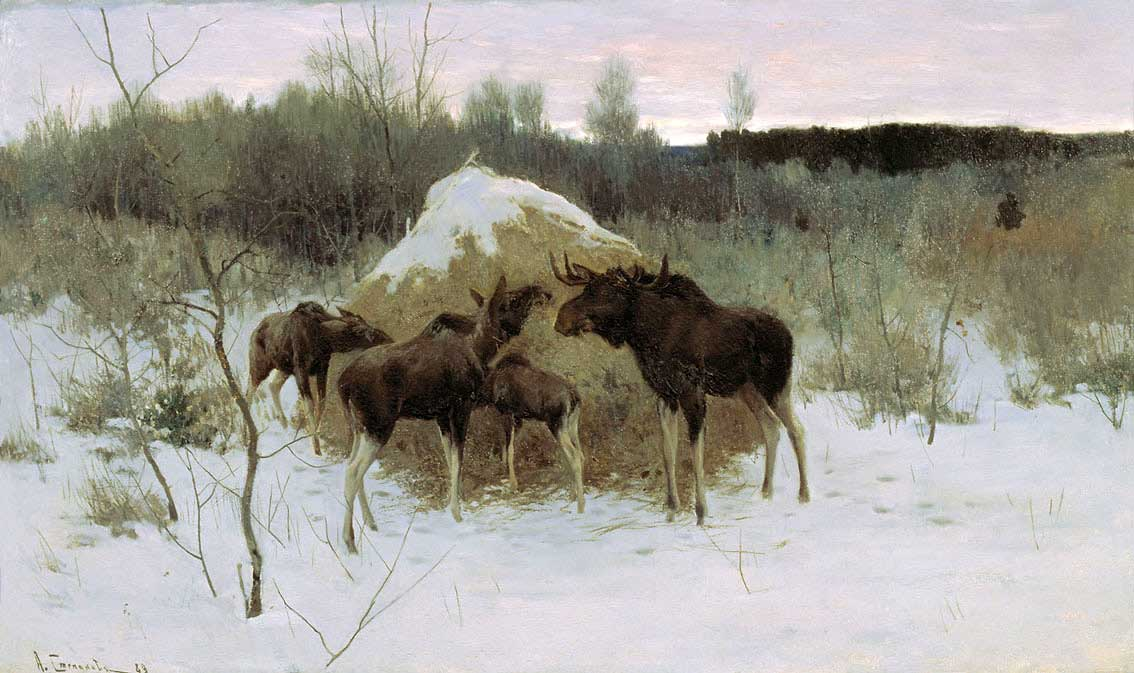 Картина Алексея Степановича Степанова под названием Лоси