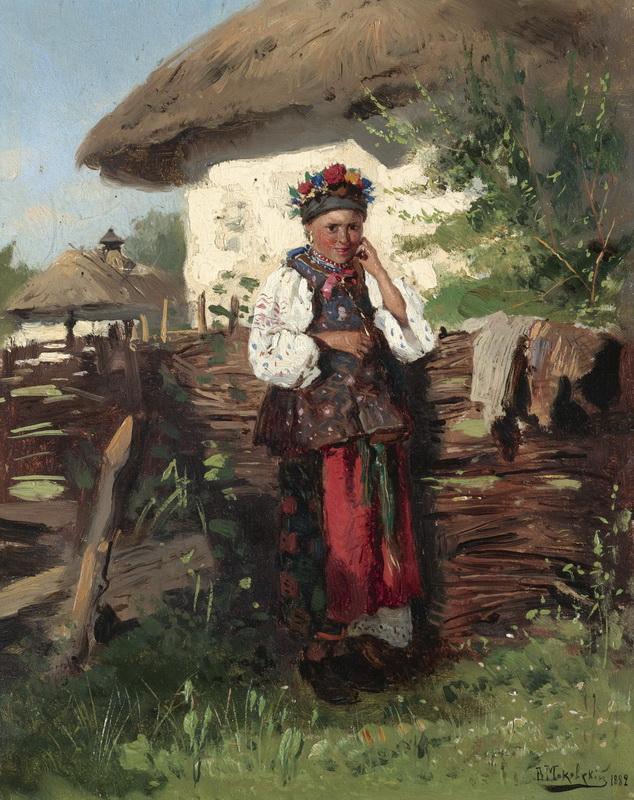 Художник Владимир Маковский Название картины Украинская девушка