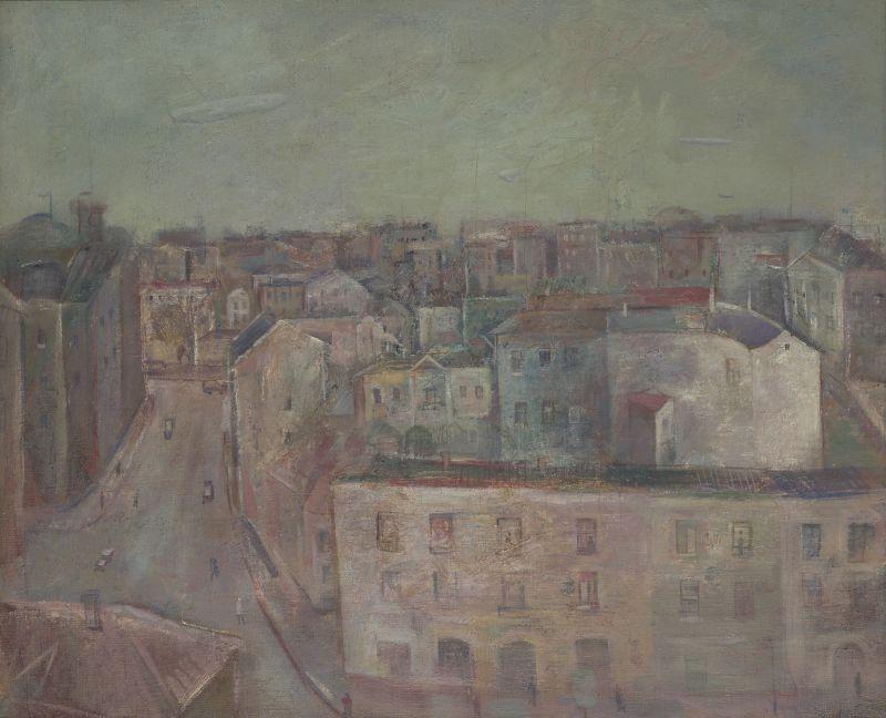 А.Лабас. Вид на Мясницкую.1930-е.Х.м.,49х60.Частное собрание
