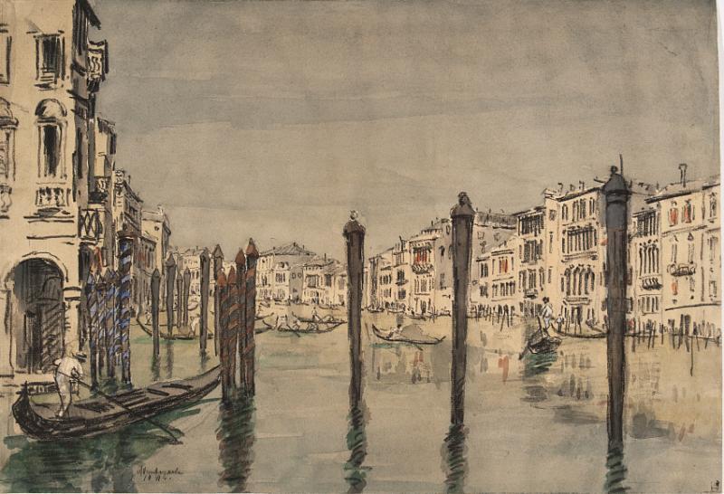 А.П. Остроумова-Лебедева. Венеция. Столбы. 1911