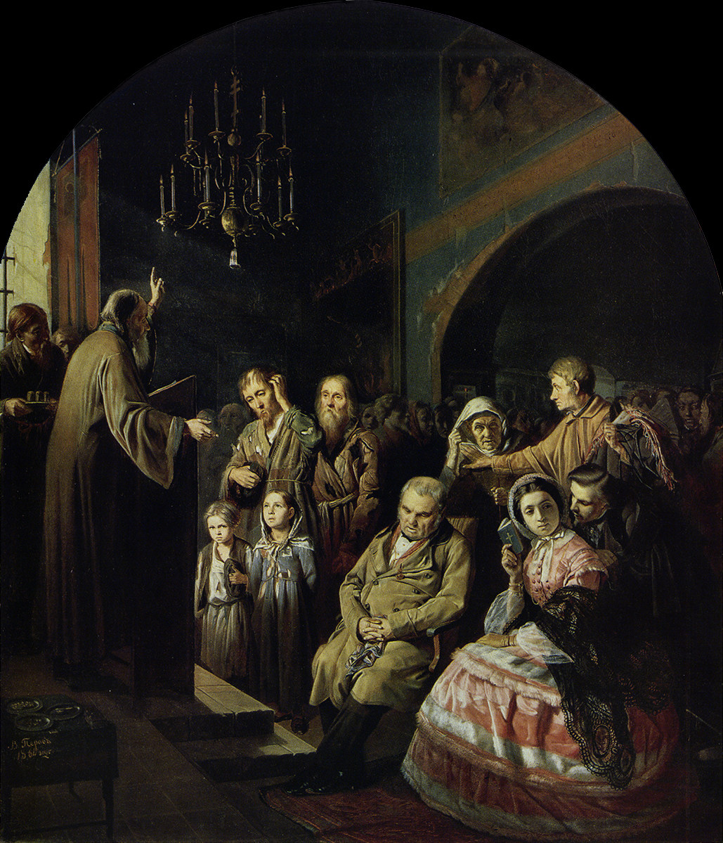 Перов Проповедь на селе