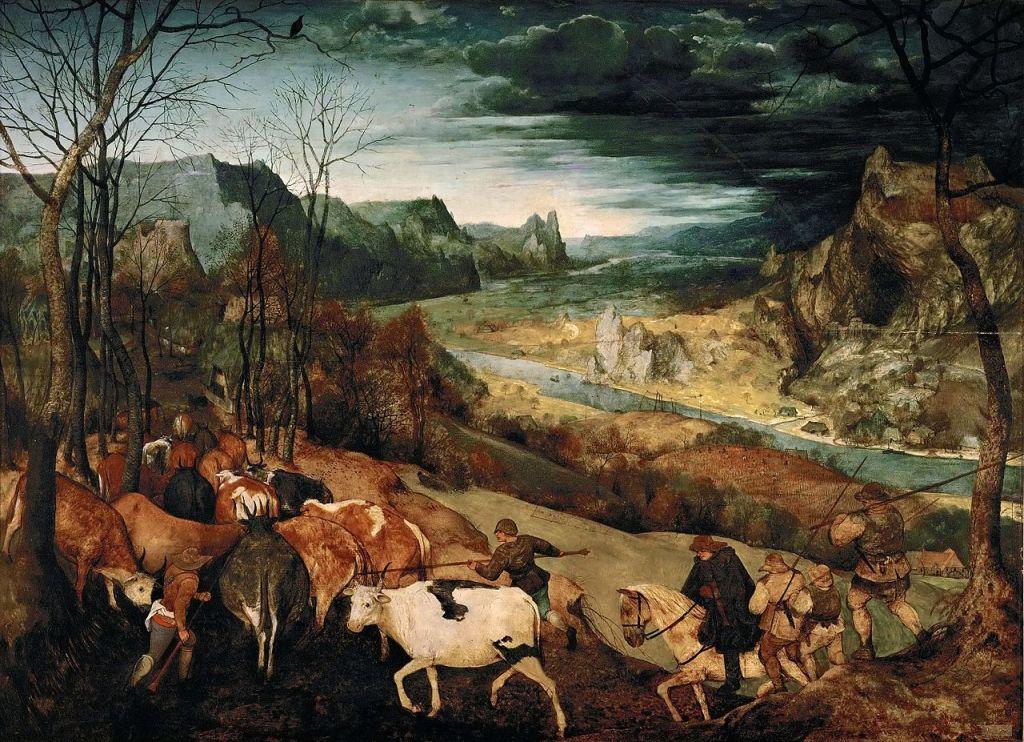 Питер Брейгель (Старший) Возвращение стад