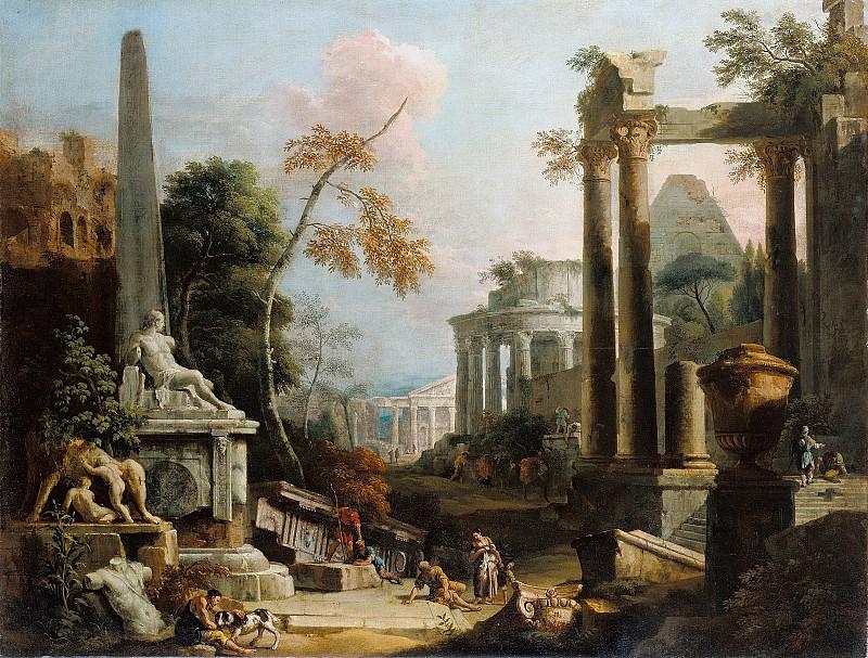 Марко Риччи Пейзаж с античными руинами, 1725-30
