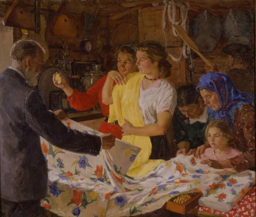 Виктор Киселев Покупательницы в сельпо