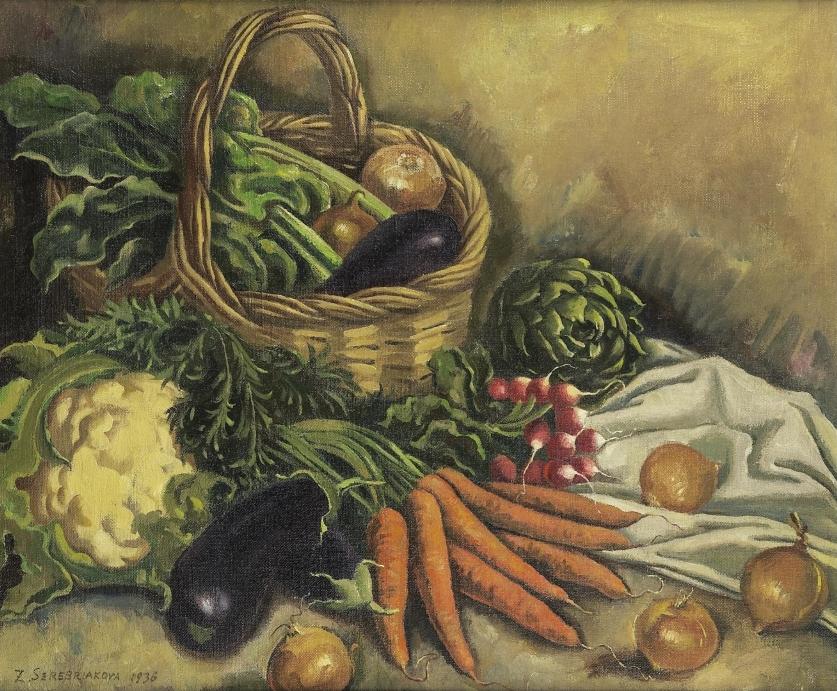 Картина художницы Зинаиды Серебряковой называется Натюрморт с овощами