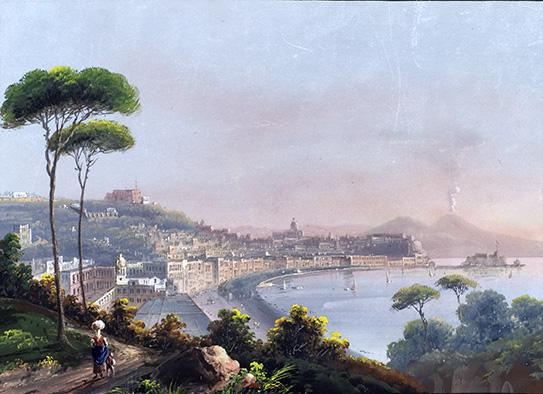 Неизвестный западноевропейский  художник XIX в. Неаполь. Позилипо.