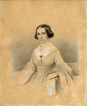 Цапс Густав-Карл-Юстус. II четверть XIX в. Портрет неизвестной женщины. 1843 г.
