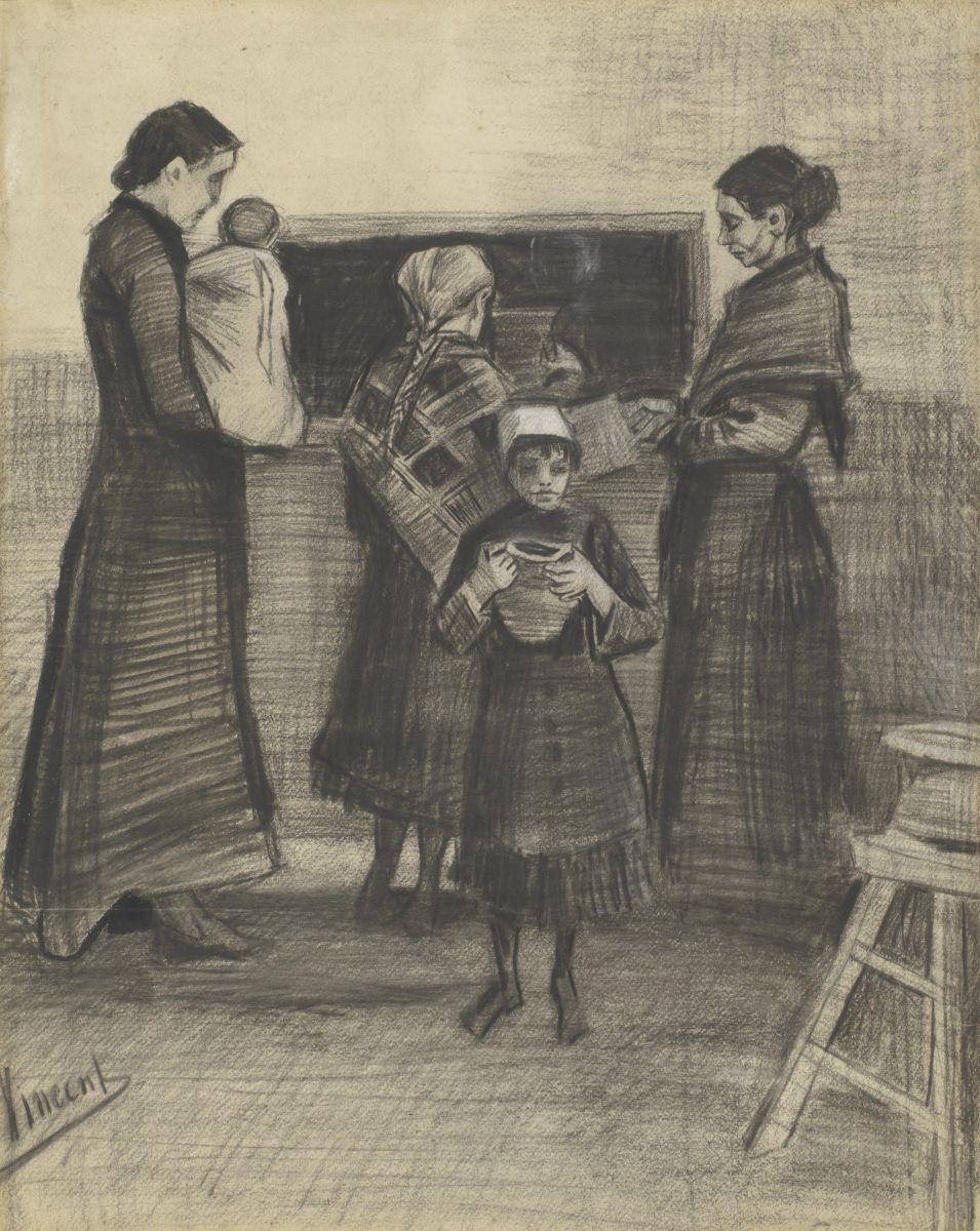 Винсент Ван Гог Раздача супа в общественной кухне, 1883