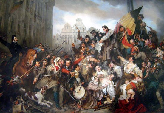 Густав Вапперс Эпизод Бельгийской революции
