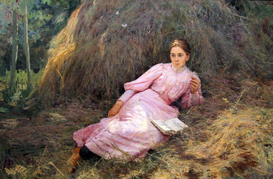 Н.Ярошенко. Летом. 1896