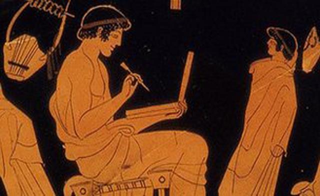 Дурис Учитель письма античная ваза