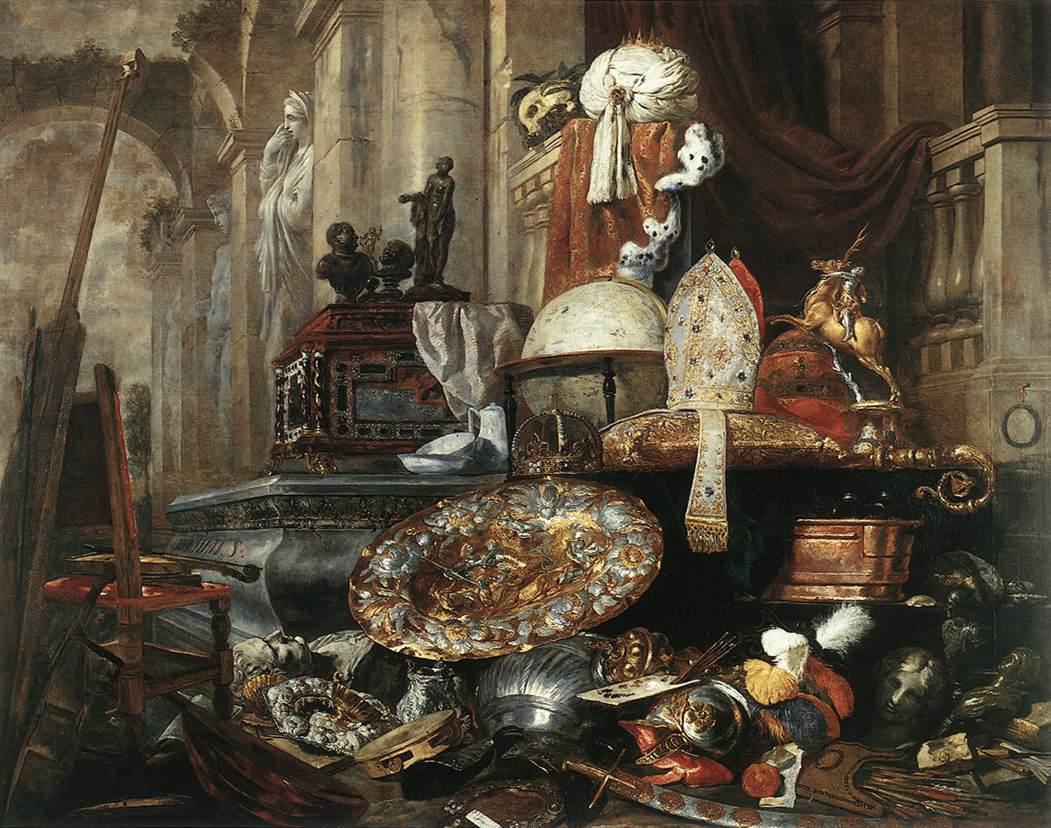 Питер Боел Large Vanitas Still-Life (Большой аллегорический натюрморт), 1663