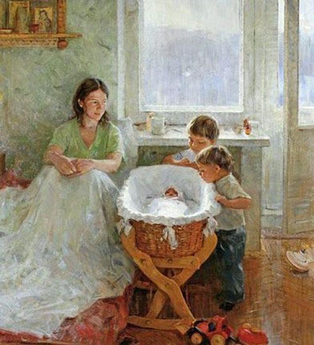 Александр Косничев Братик родился