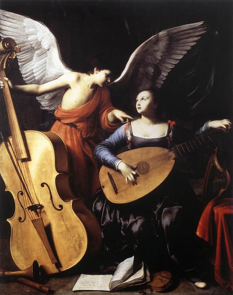 Карло Сарачени Святая Цецилия и ангел, 1610