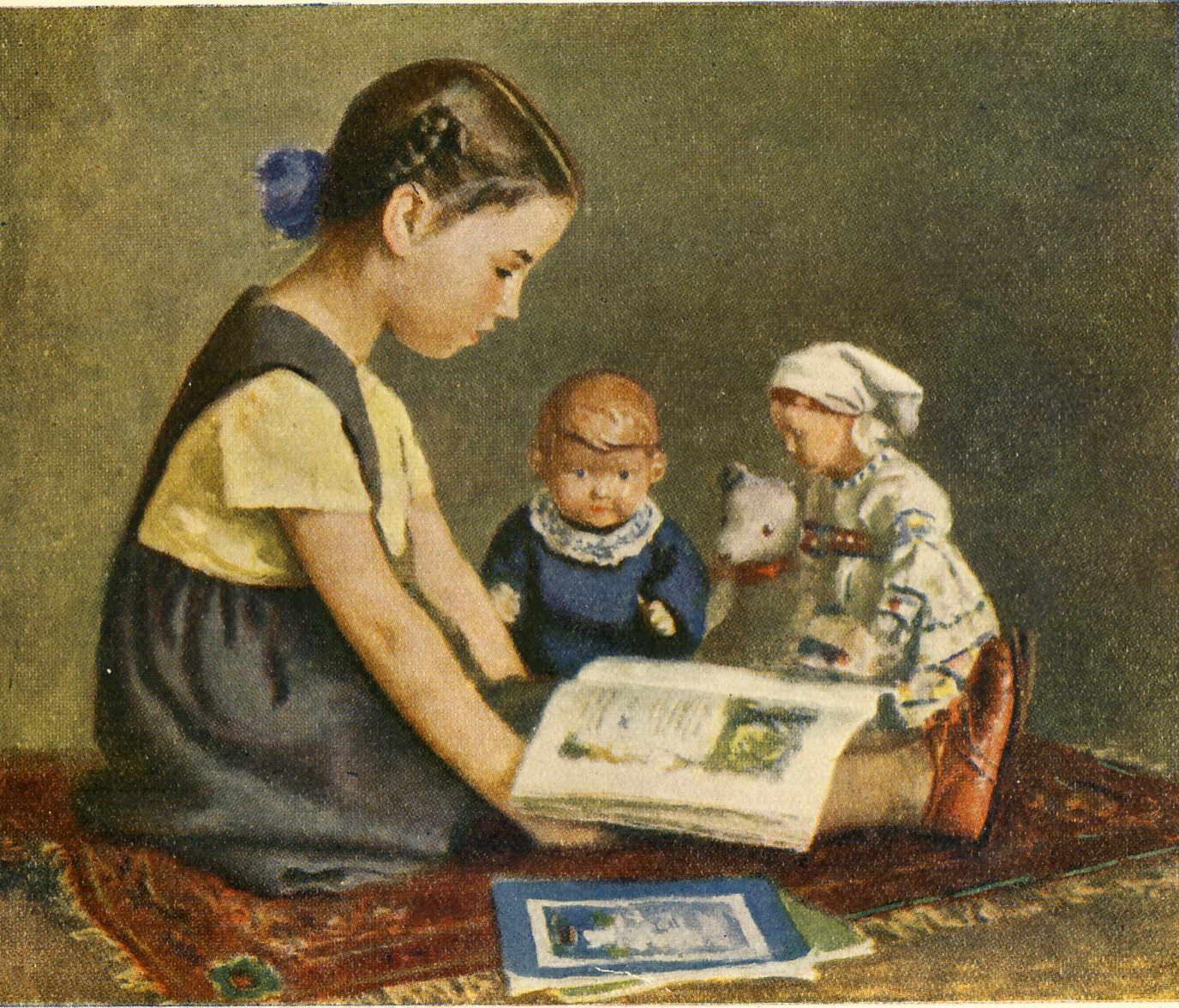 Игорь Ершов Ксения читает сказки куклам