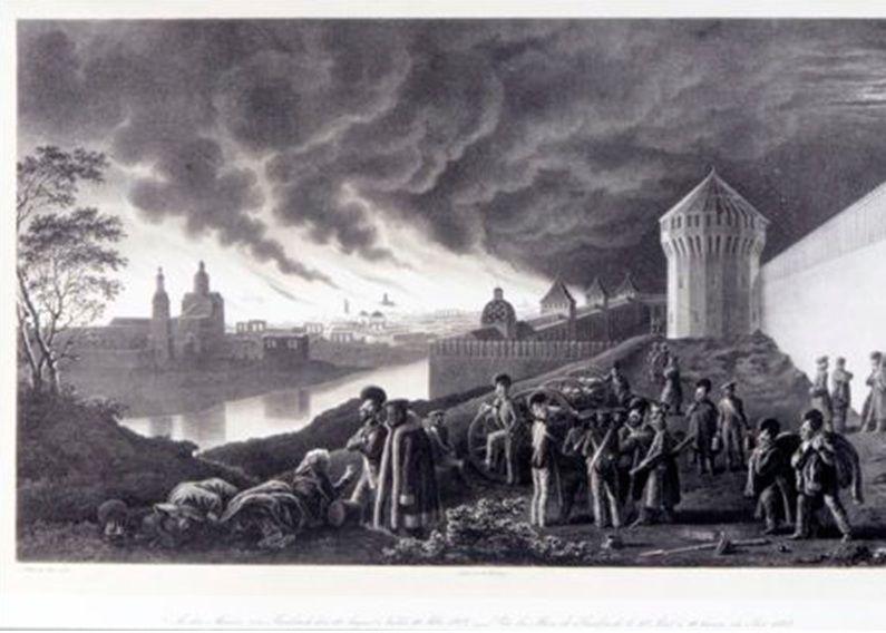 У стен Смоленска, 18 августа 1812 г., 10 часов вечера.