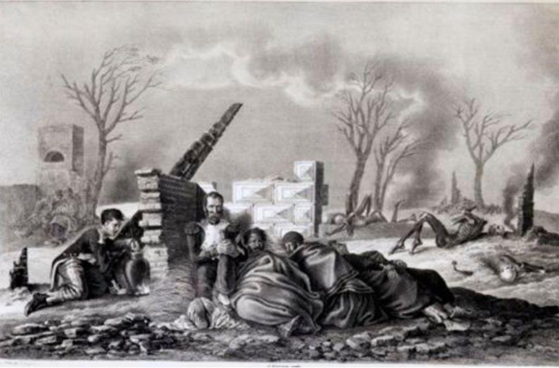 На главной дороге между Можайском и Крымским, 18 сентября 1812 г.