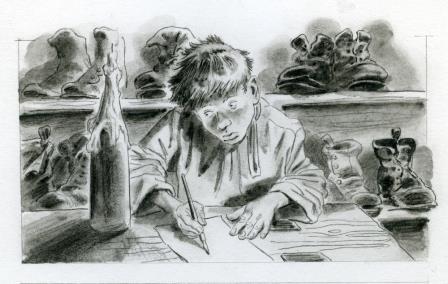 Гонков С.Г. Иллюстрация к книге А.П. Чехова Ванька Жуков
