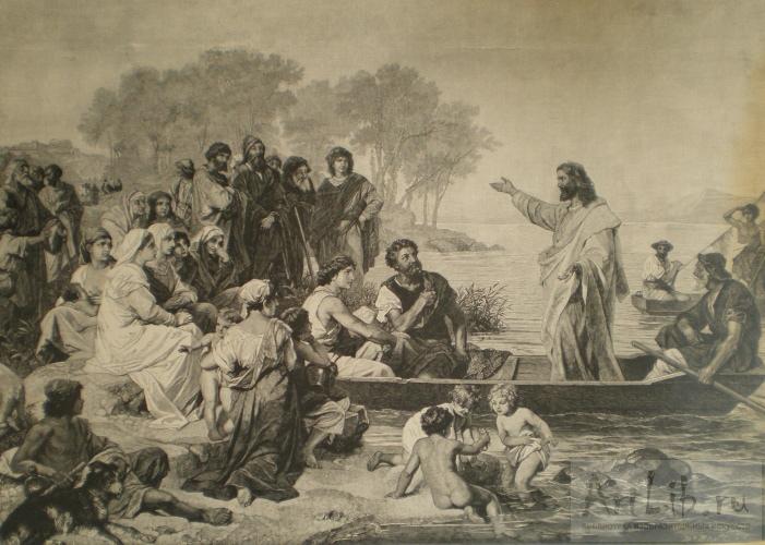 Генрих Гофман Христос проповедует на Генисаретском озере