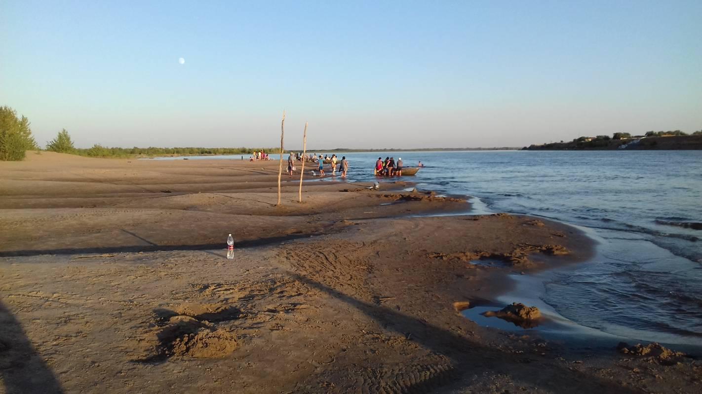Волга у посёлка Цаган-Аман Август 2017