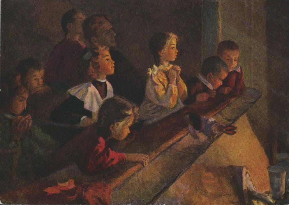 Елена Леонова Дети в театре 1955