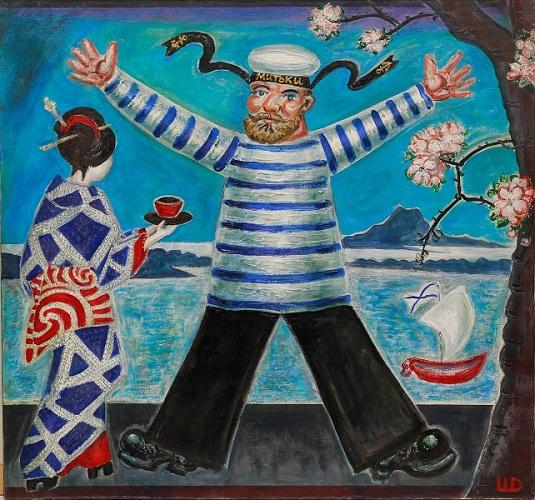 Дмитрий Шагин. Японский кофе. 2010. Х.м. 75х80