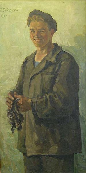 Яков Завируха Портрет молодого рабочего
