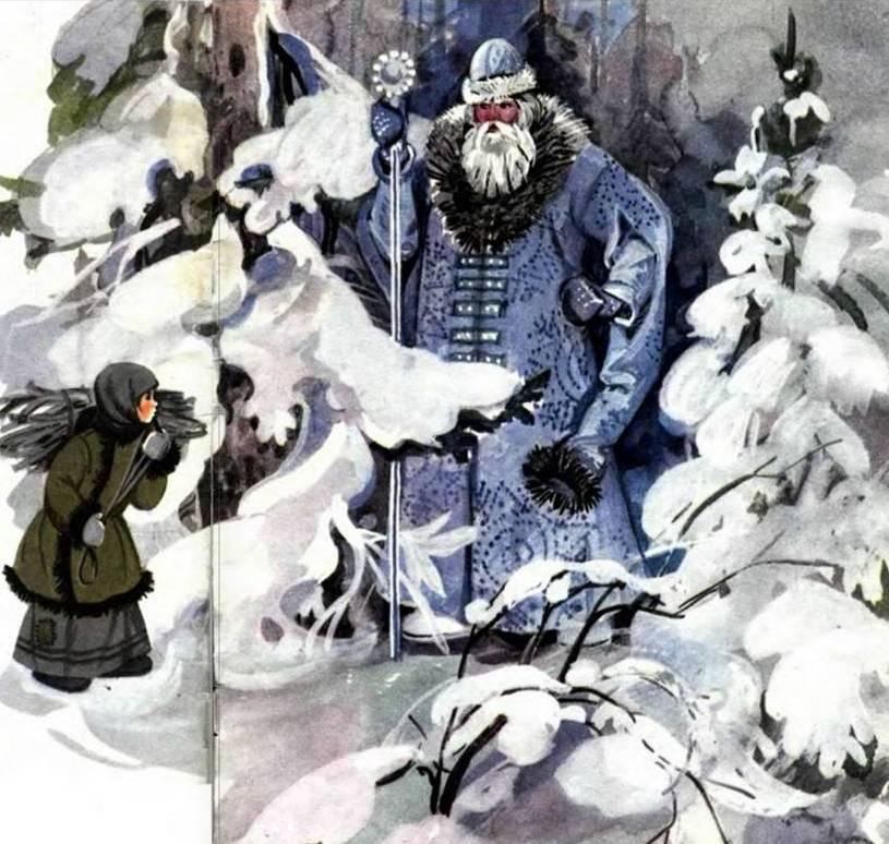 Тамара Шеварева Иллюстрация к сказке Морозко
