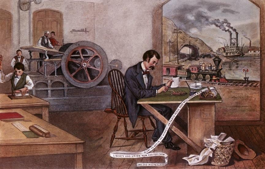 Прогресс века Литография фирмы Currier and Ives, 1876