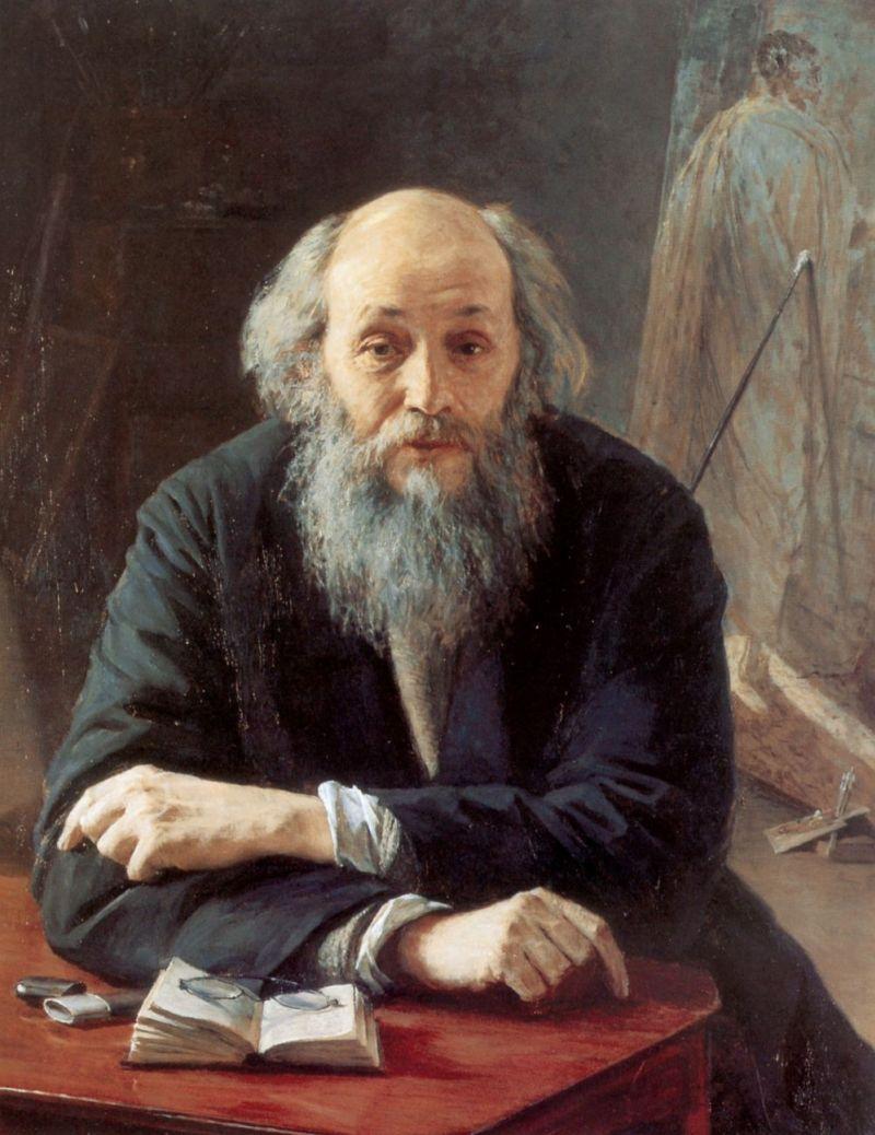 Николай Ярошенко. Портрет художника Ге