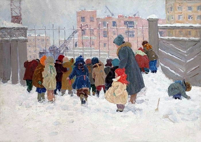 Воробьева Надежда Дмитриевна Детский сад на прогулке