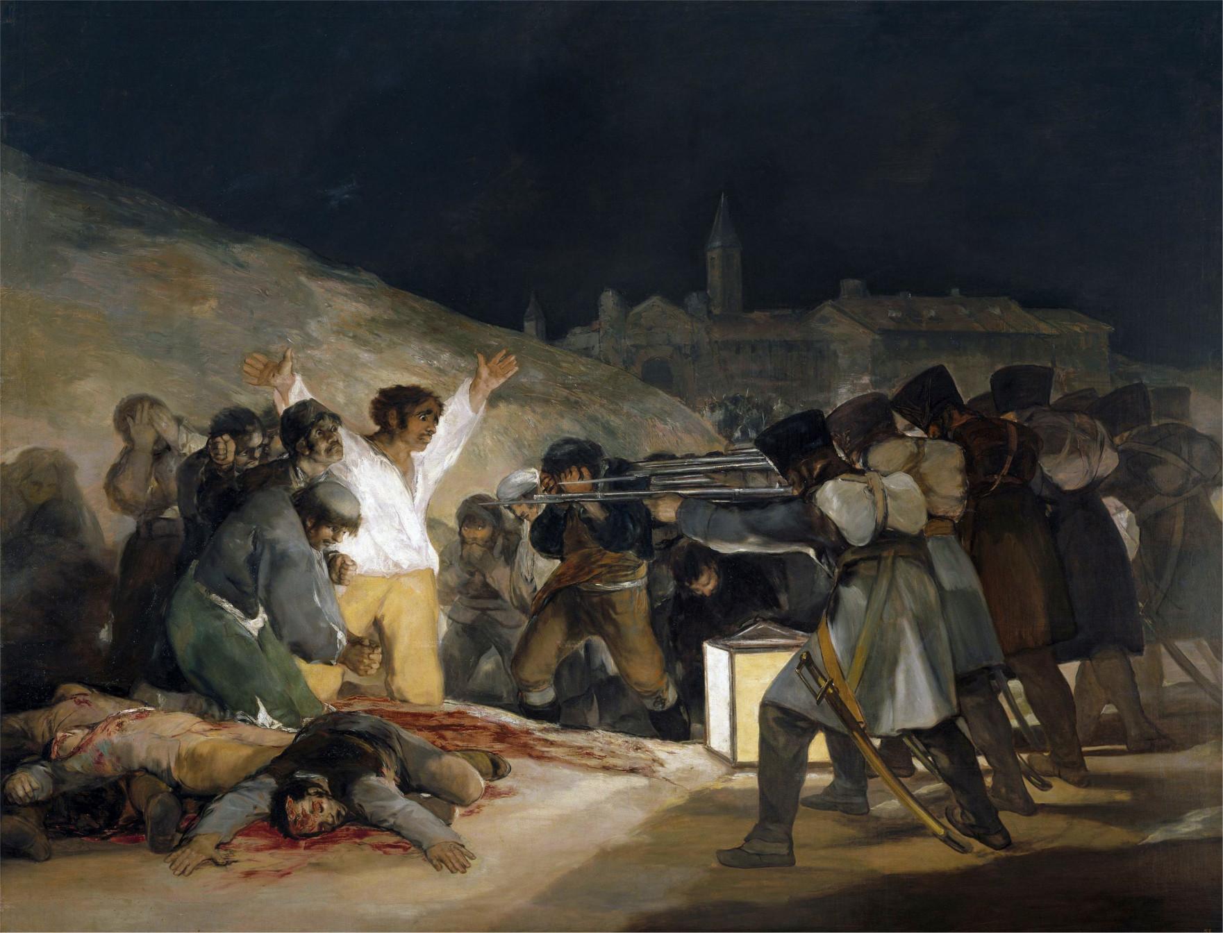 Картина художника Гойи «Расстрел повстанцев в ночь на 3 мая 1808 года»