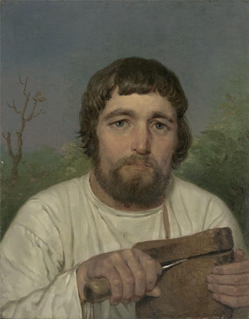 Алексей Венецианов Крестьянин, отрезающий ломость хлеба