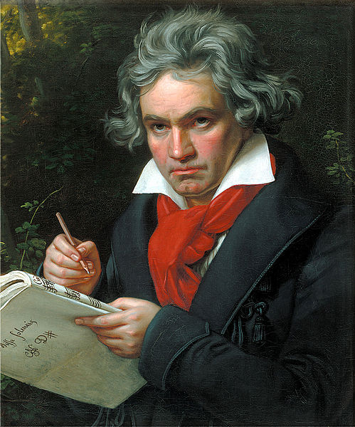 Йозеф Штилер Бетховен, сочиняющий Торжественную мессу