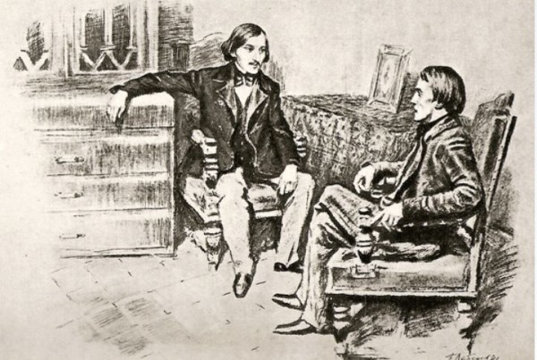 Борис Лебедев. В.Г. Белинский и Н. В. Гоголь